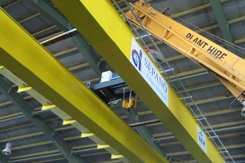 جرثقیل سقفی دو پل - رونشین