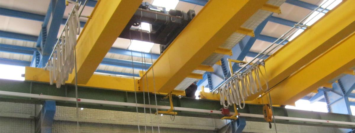 جرثقیل سقفی دو پل رونشین با راهرو تعمیراتی